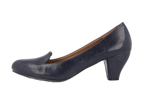 SALE - ANDRES MACHADO - Damen Pumps - Blau Schuhe in Übergrößen