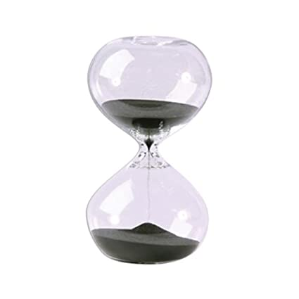 amazon com hourglass sand timer 30 minute black sand 5 5 inch