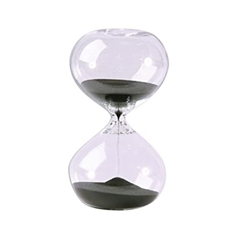 Hourglass Sand Timer - 30 Minute Black Sand, 5 5 inch