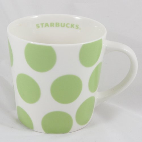 Starbucks Print (Starbucks Coffee 2005 Green Polka Dot Print Mug 18 fl. oz.)