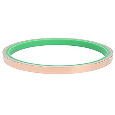 Tilesii Copper Foil Tape with Double-sided Conductive (0.24in X 9.84ft)- EMI Shielding,Stained Glass,Soldering,Electrical Repairs,Slug Repellent,Paper Circuits,Grounding