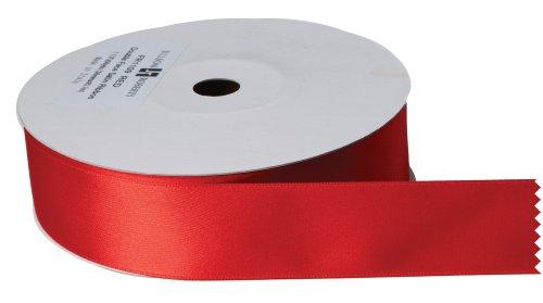 Jillson Roberts Bulk 1-1/2-Inch Double Faced Satin Ribbon, Red, 50 Yard Spool
