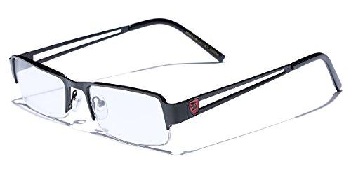 Small Rectangular Frame Clear Lens Designer Sunglasses RX Optical Eye Glasses (Lens Small Clear)