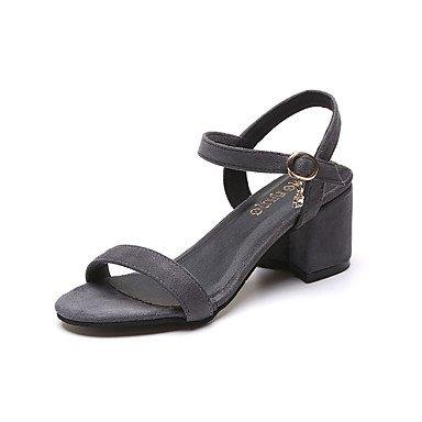 Wome's sandalias Primavera Verano PU Confort vestir casual Chunky tal¨®n US5.5 / EU36 / UK3.5 / CN35