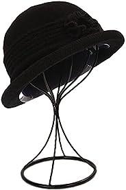 ZffXH Winter Fall Wool Knit Cloche hat 1920 Vintage Beanie Cap Church Bucket Hat for Women Ladies