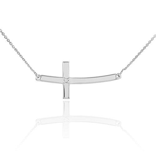 Curved Diamond Necklace - 9