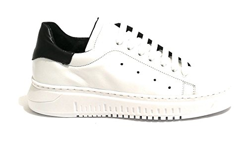 Sneaker U19TW02 WILD TONY Uomo Bianco Scarpe Nero Pelle wtRaqvA