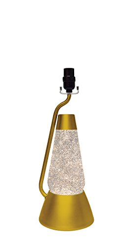 18.5-Inch Bright Source Gold Base Lamp with Silver Glitter in Clear Liquid (Lamp Gold Base)