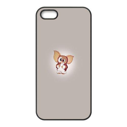Gremlins Gizmo O7X78 Art W4R5CD coque iPhone 4 4s cellule de cas de téléphone couvercle coque noire FT7FXU2LN