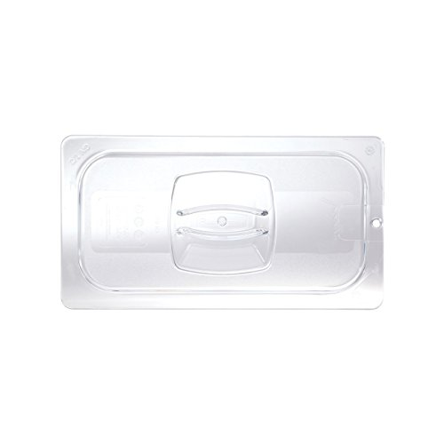 "Rubbermaid Commercial Products FG121P23CLR Cold Food Pan Cover with Peg HoleCLR, 1/3"" Size (Pack of 6)"