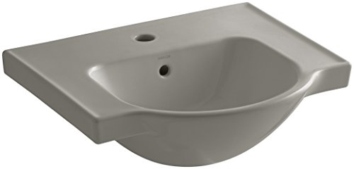 KOHLER K-5247-1-K4 Veer Single-Hole Sink Basin, 21-Inch, Cashmere