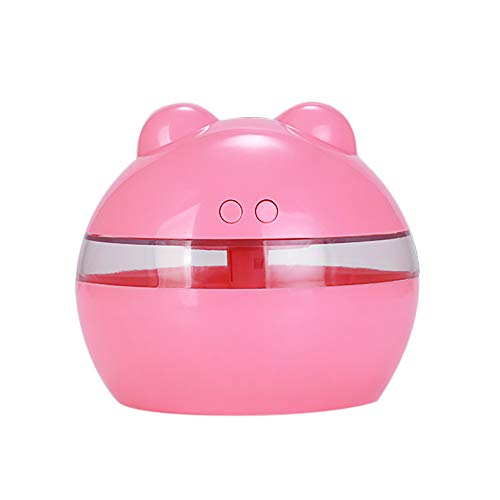 ool Mist Humidifier, Cute Panda 300ml Mini USB Ultrasonic Humidifiers for Office Home Car Study Yoga Spa Travel, Whisper-Quiet Operation (Pink) ()