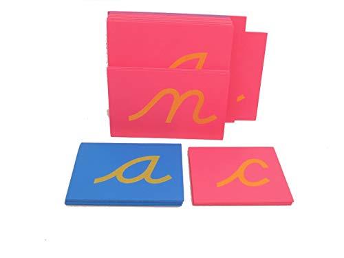 (pinkmontessori Montessori Sandpaper Letters, Lower Case)