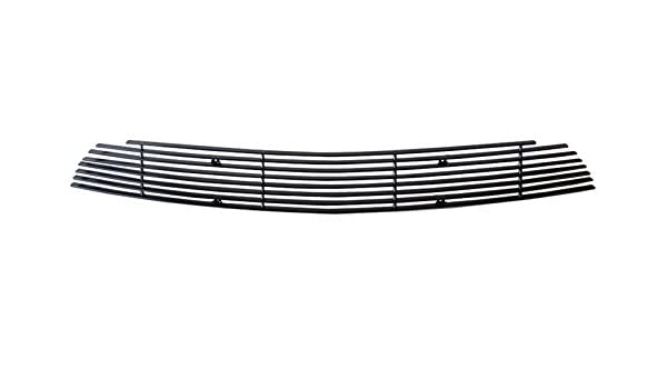 MaxMate Fits 10-12 Ford Mustang V6 Bolton Lower Bumper 1PC Horizontal Billet Black Powder Coated Aluminum Grille Grill Insert