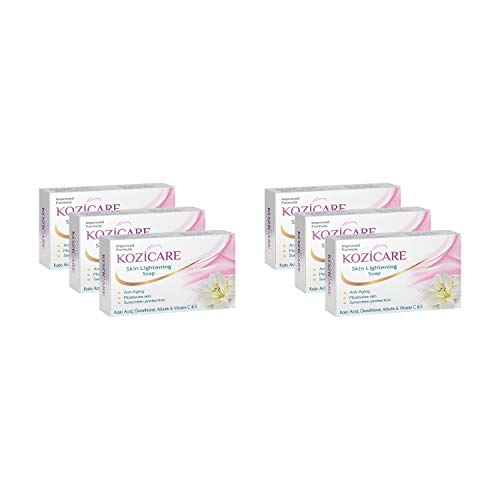 Kozicare Skin Lightening Soap with Kojic Acid, Glutathione & Arbutin – 75g (Pack of 6)