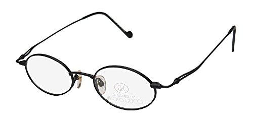 Paolo Gucci 7104 Mens/Womens Oval Full-rim Eyeglasses/Eye Glasses (46-19-140, - Titanium Frames Eyeglasses Gucci