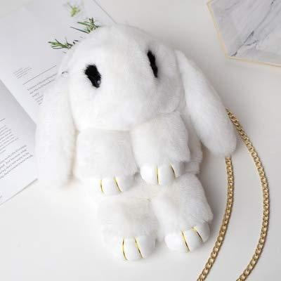 Plush Backpacks - Colors Plush Rabbit Plush Backpack Japanese Bunny Backpacks Rabbit Dolls Crossbody Bag Messenger Bag Fur Rabbit Bag for Girls - Women Bags Men Toy Doll Hat School -