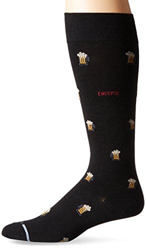 - Dr. Motion Men's Dr.Motion Beer Mugs Compression Knee Sock, Black, Sock Size:10-13/Shoe Size: 6-12