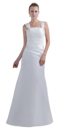 Dearta Reissverschluss Kleidungen Aermellos Linie Bodenlang Elfenbein Brautkleider Traeger Damen Etui Charmeuse Regulaere zr5wp1zxq