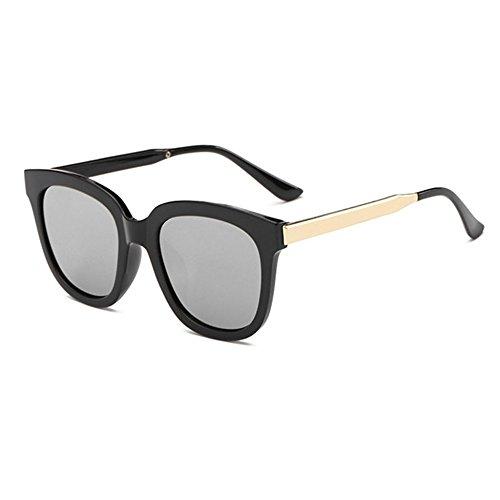 Aoligei Mode gros Frame lunettes de soleil européen et rétro de lunettes tendance American metal jambe couleur lunettes de soleil de film G