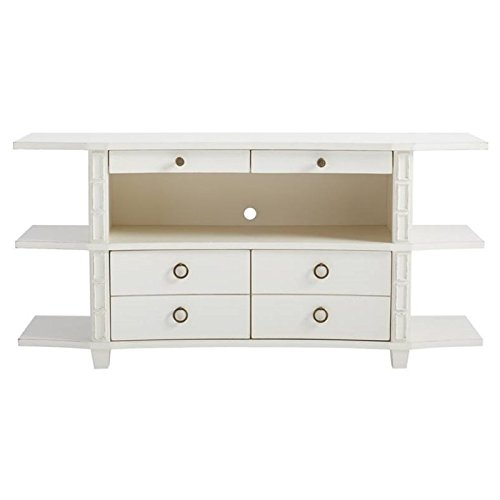 Stanley Havana Crossing Correspondent's Entertainment Console in Finca White - Stanley Entertainment Furniture