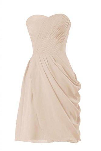 Daisyformals Courte Robe De Demoiselle D'honneur En Mousseline De Soie Femmes Asymétriques Robe De Soirée (bm810) N ° 50 Champagne
