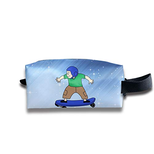 Toiletry Bag Kid And Skateboard Shaving Cosmetic Makeup Storage Travel Sundry Sewing Organizer Portable With Handle