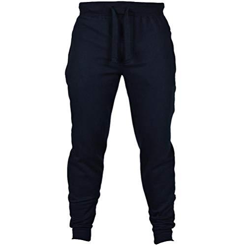 Muranba Clearance Men's Solid Casual Drawstring Joggers Sweatpants