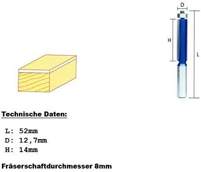 Lobinger/® Hartmetall B/ündigfr/äser f/ür Oberfr/äse 8mm Schaft