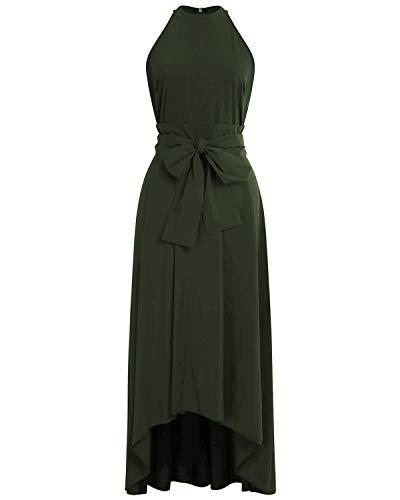 ae63097382d AUTCY Jacket+Belt+Dress Formal Asymmetrical Long Dresses for Women ...