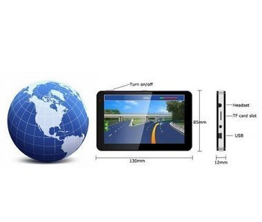 Towallmark 5'' Car GPS Navigation Touch Screen FM MP3 MP4 4GB New Map WinCE6.0''
