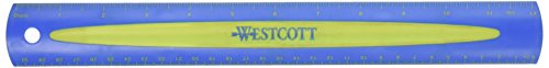 (Westcott Soft Touch School Ruler With Anti-microbial Protection, Color Varys, 12-Inch (14370))