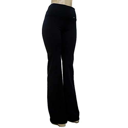 Victoria's Challenge Tummy Control Warm Polartec Yoga Boot Cut Hi Rise Tall 33 Inseam Black 17YP Medium For Sale