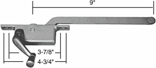 C.R. LAURENCE 5259LHAL CRL Aluminum 9'' Left Hand Square Series Casement Window Operator by C.R. Laurence