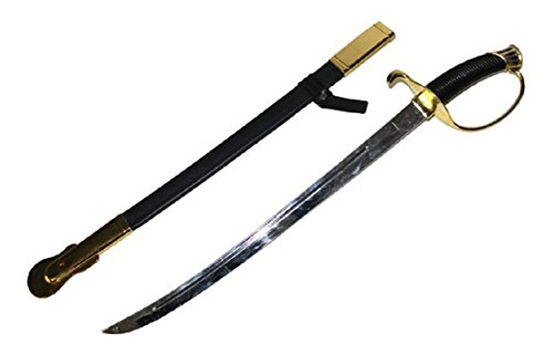 Knights Pirate Medieval Cavalry Kings Cutlass Curved Sword Plastic Toy Costume Black/Gold -