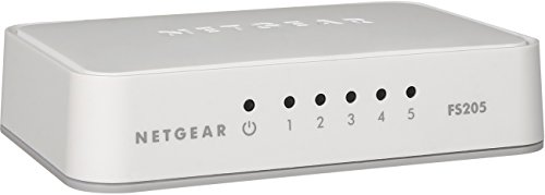 NETGEAR 5-Port Fast Ethernet 10/100 Unmanaged Switch (FS205) - Stylish Desktop for Home Office