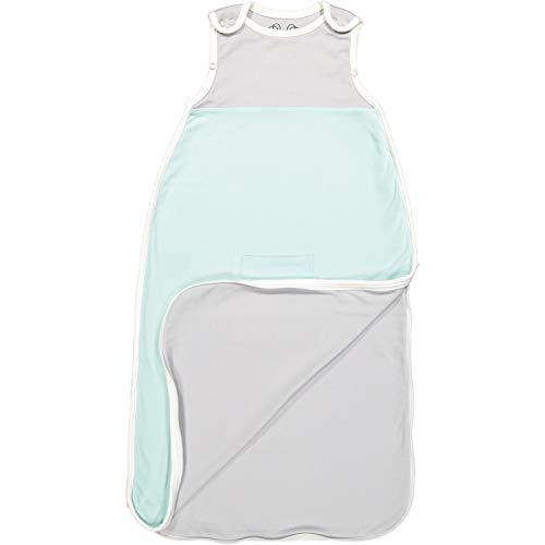 Antipodes Merino Baby Sleeping Bag - Infant and Toddler Sleep Bag Sack - Wool and Cotton (Aqua) ()