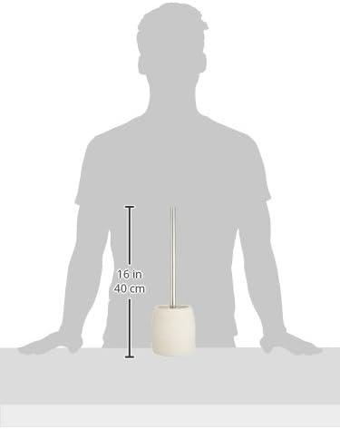 Colore: Beige 11,8 x 38,5 x 11,8 cm Scopino per WC in plastica e poliresina Wenko 21716100 Goa