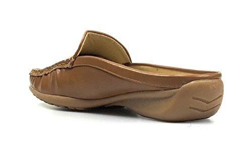 Scarpe Da Donna Slittino Mocassino New Fashion Da Donna Piquet Dumas Style Nocciola-23 Nuova Tan