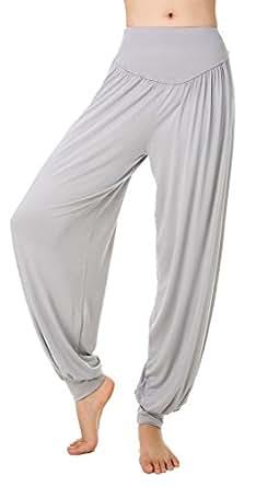 Z-SHOW Women's Yoga Herem Pants Belly Dance Fitness Workout Pants(Light Grey,M)
