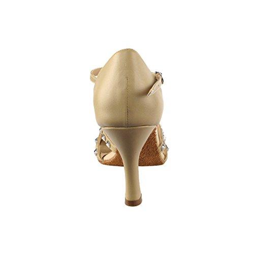 Party Party Sera7012 Robe De Soirée Confort Pompe, Chaussures De Mariage: Femmes Chaussures De Danse De Salon Haut-moyen Talon, Salsa, Tango, Latin, Swing Salsa Balançoire Tango Latin 7012- Cuir Beige