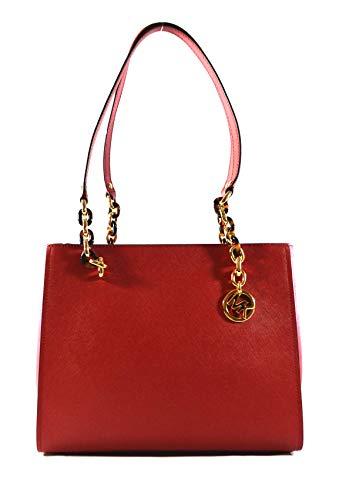 Michael Kors Sofia Large Saffiano Leather Tote Shoulder Bag Purse Handbag ()