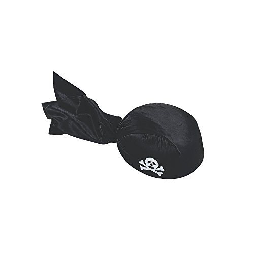 Fun Express - Child's Black Pirate Scarf Hat for Halloween - Apparel Accessories - Hats - Novelty Pi - coolthings.us