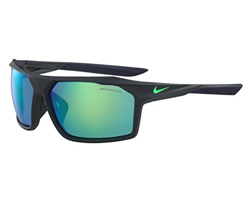 NIKE EV1033-336 Traverse R Sunglasses (Frame Grey with ML Green Flash Lens), Matte Seaweed/Electro (New Nike Sport Sunglasses)