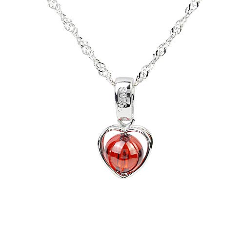 CHOP MALL Heart of Ocean Crystal Gem Stone Necklace Pendant with Chain