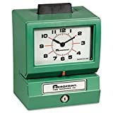 * Model 125 Analog Manual Print Time Clock with Month/Date/0-23 Hours/Mi