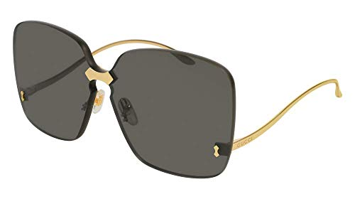 Gucci GG0352S Sunglasses 001 Gold / Grey Lens 99 mm (Sunglasses Gucci Grey Womens)