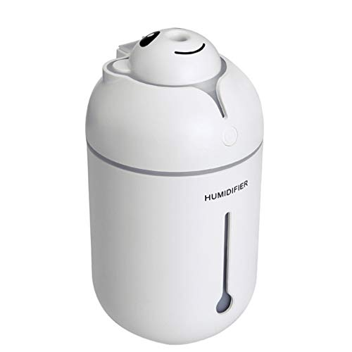 New Portable USB Mini Magic Wand Decca Bear Dazzle Color Light Humidifier Portable Car Spray Mute Air Purifier (White) - Special Grain 38 158