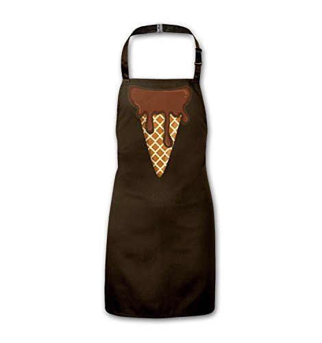 Ice Cream Head (Chocolate) Kids Apron - Brown Infant Size (Ice Cream Apron)