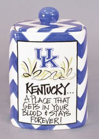 NCAA Collegiate Ceramic Cookie Jar (University of Kentucky)
